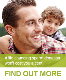 Become a sperm donor button